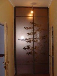 декорирование дверей раздвижного шкафа купе