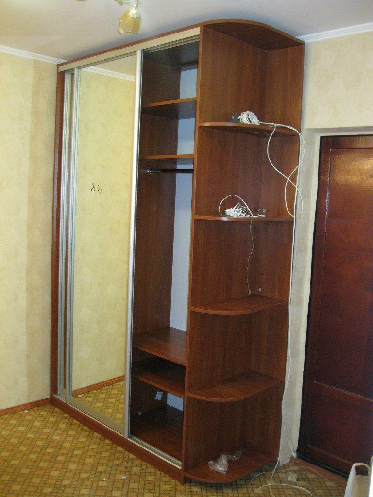 мебель в прихожую, раздвижной шкаф с книжными полками, зеркальные стенки раздвижные