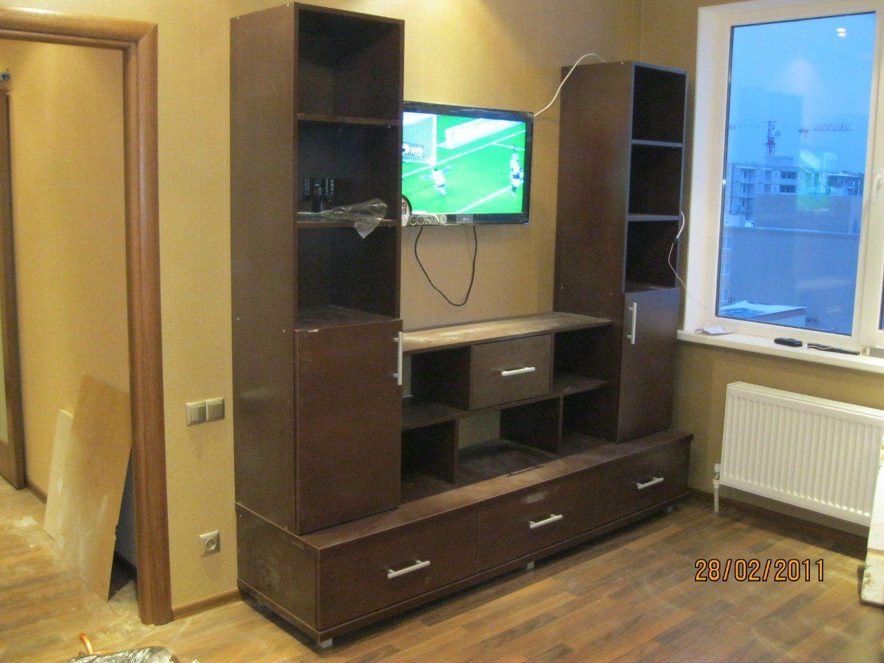 книжные полки, для мебели в гостинную под телевизор