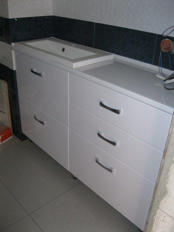 мебель в ванную комнату под встраеваемый умывальник